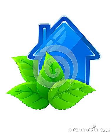 Symbol of ecological house