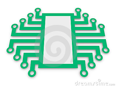 Symbol of electronic microchip