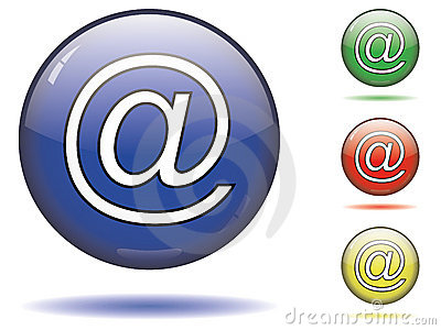 At symbol of email