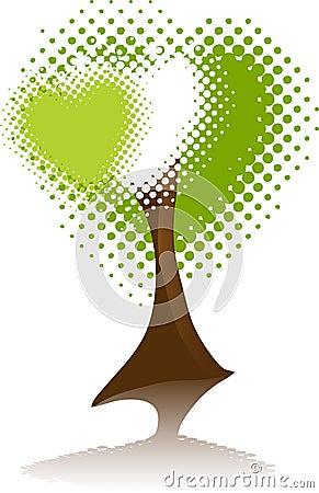 Symbol Environment. Tree Heart