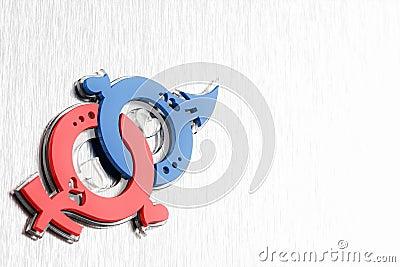 Symbol för femininityförälskelsemasculinity
