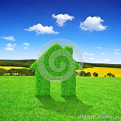 Symbol för grönt hus