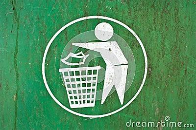 Symbol of a garbage dump.