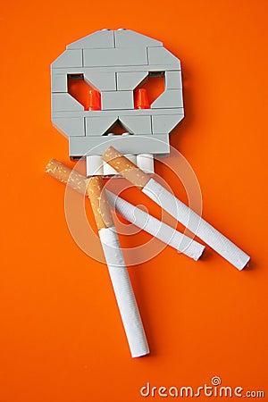 Symbol of harm of smoking