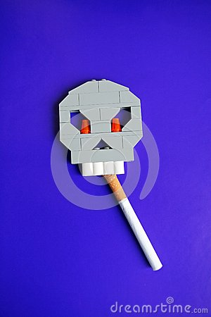 Symbol of harm of smoking