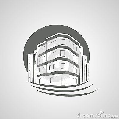 Symbol of home, house icon, realty silhouette, real estate, Apartment Building