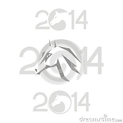 Symbol of 2014. Horse