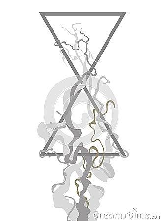 Symbol of hourglass