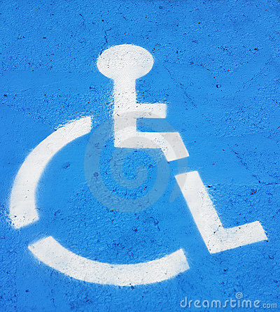 Symbol Indicating Handicapped Parking