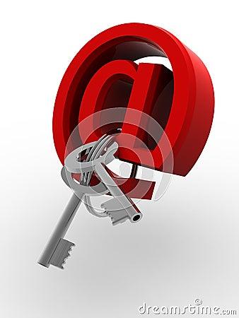 Symbol for internet with keys