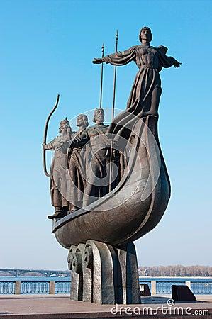 Symbol of Kiev - Kyi, Khoriv, Sheck and sister Lybid