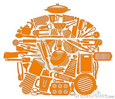 Symbol of kitchen ware