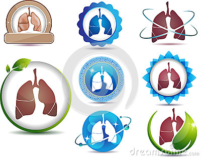 Symbol of lungs