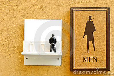 Symbol of male toilet