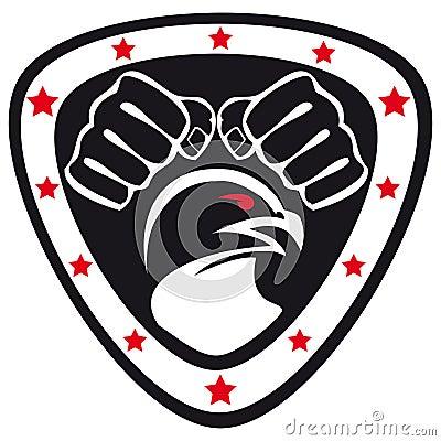 Symbol Martial arts- fists,hawk,eagle.