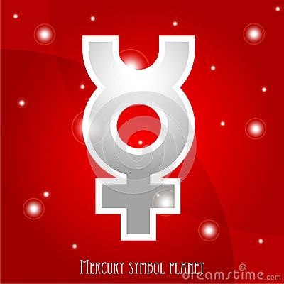Symbol of Mercury planet