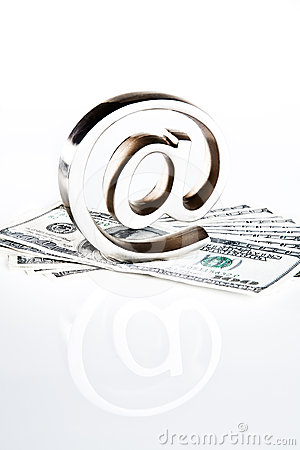 At symbol on money