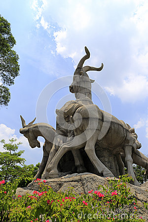 Free Symbol Of Guangzhou City, Five Goats Royalty Free Stock Photography - 70609097