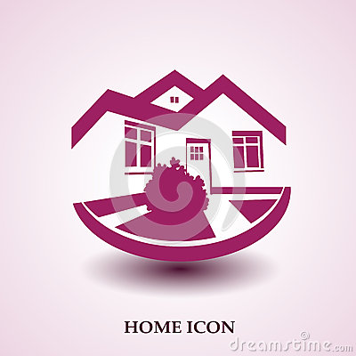 Free Symbol Of Home, House Icon, Realty Silhouette, Real Estate Modern Logo Royalty Free Stock Photos - 36295318