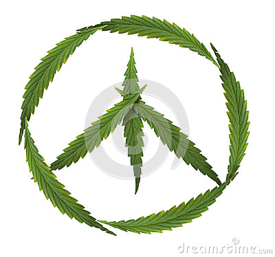 Free Symbol Of Peace, Marijuana, Symbol Of The Hippie Stock Photos - 33113703