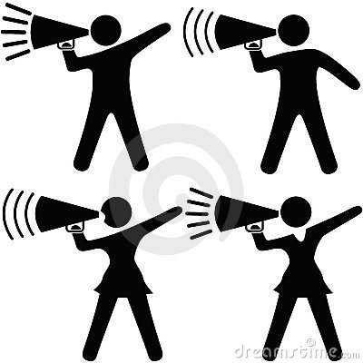 Symbol People Cheerleader Megaphone