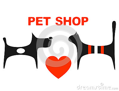 Symbol of pet shop