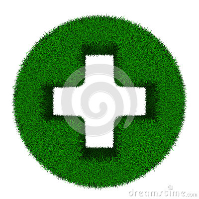 Symbol plus on white background