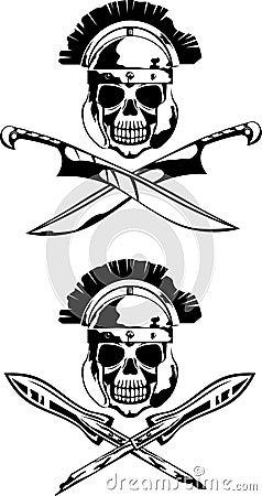 Symbol with skull