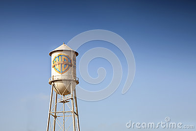 Symbol of Warner Bros. Entertainment, Inc Editorial Stock Photo