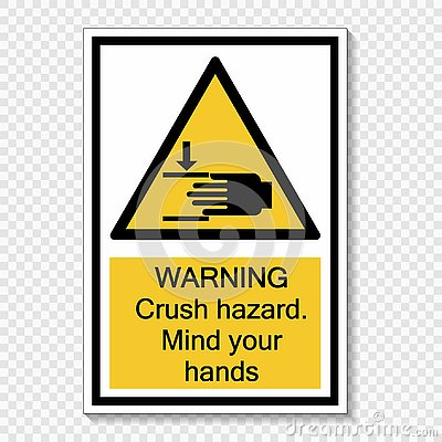 Free Symbol Warning Crush Hazard.Mind Your Hands Sign On Transparent Background Royalty Free Stock Images - 138259409