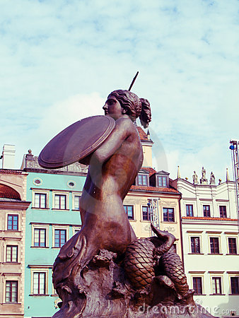 symbol of Warsaw, Poland