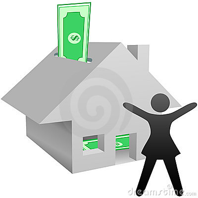 Symbol woman house savings work at home income