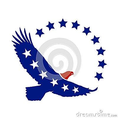 Symbole américain de vecteur d aigle