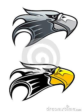 Symbole d aigle de dessin animé
