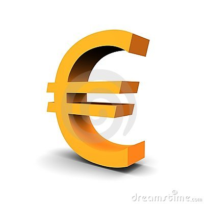 Symbole d euro de devise