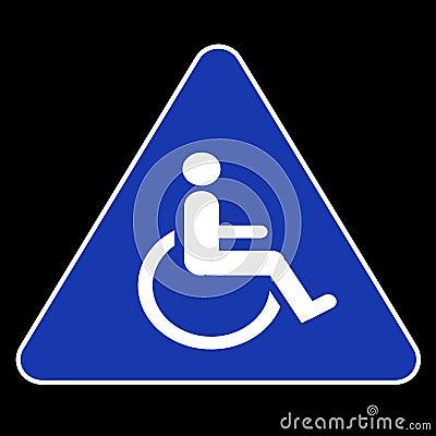 Symbole d handicap