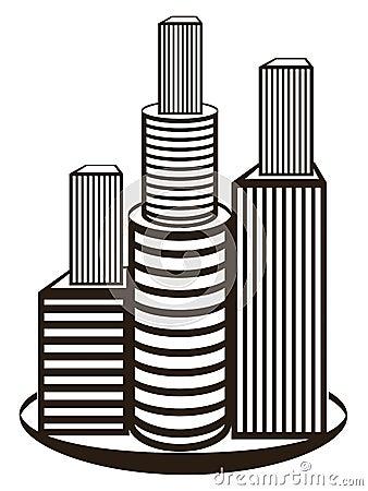 Symbole d immobiliers