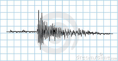 Symbole d onde de séisme