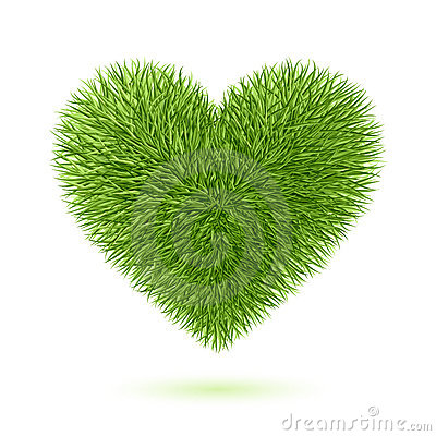 Symbole de coeur d herbe