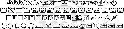 symboles de lavage image libre de droits image 10607566. Black Bedroom Furniture Sets. Home Design Ideas