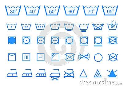 symboles de lavage de soin ensemble d 39 ic ne de vecteur photographie stock image 33545652. Black Bedroom Furniture Sets. Home Design Ideas