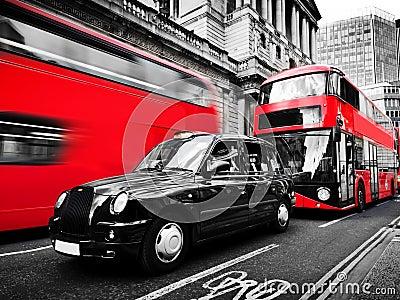 symboles de londres r u autobus rouges taxi noir rebecca 36 photo stock image 56400714. Black Bedroom Furniture Sets. Home Design Ideas
