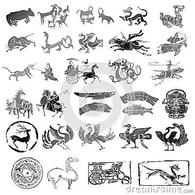 symboles historiques avec le genre diff233rent danimaux