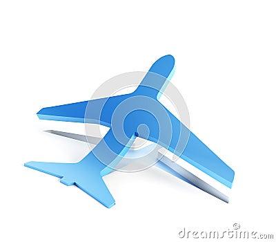 Symbolic airplane take off