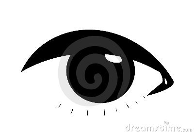 Symbolic female eye