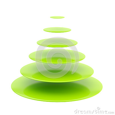 Symbolic glossy christmas tree