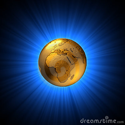 Symbolic golden earth