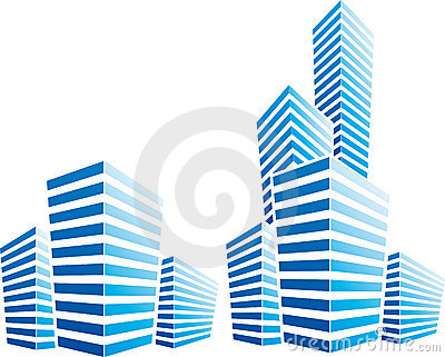 Symbolic illustration with  cityscape