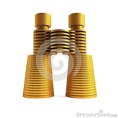 Symbolic money s binoculars