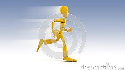 Symbolic running man 3d